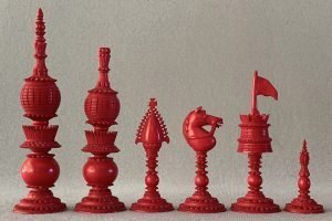 Antique Vizagapatam Chess Pieces