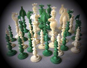 Antique Vizagapatam Chessmen