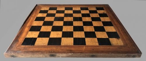 Small Antique Tournament Chessboard