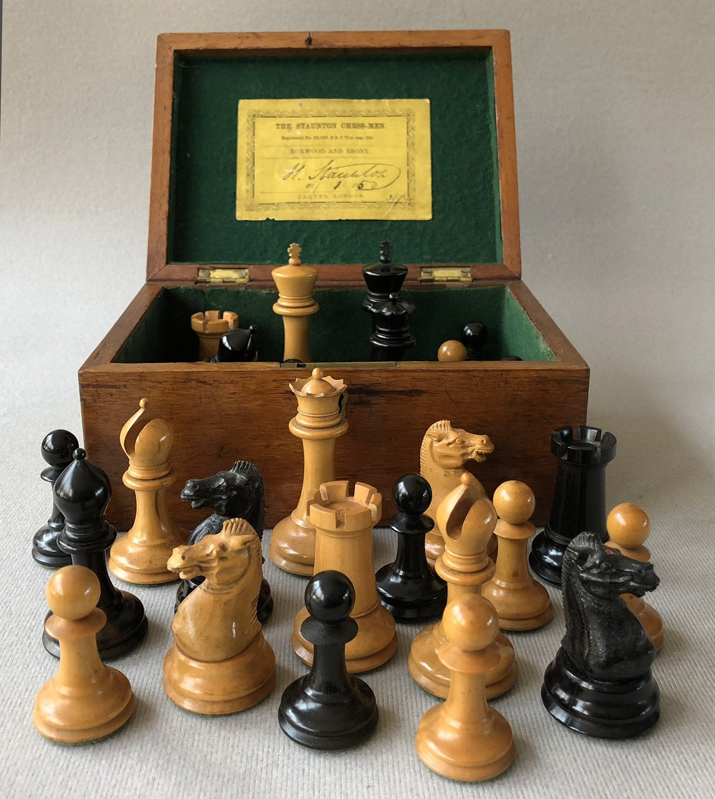 Jaques Weighted Anderssen Chessmen