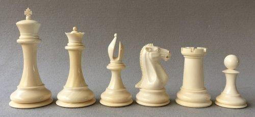 Mammoth Ivory 1849 Staunton Chessmen