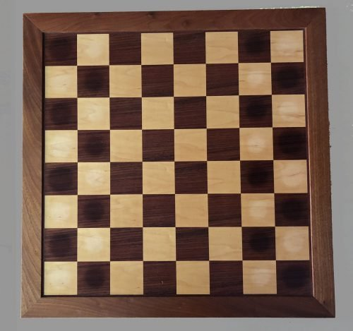 Large English Veneer Traditional Chessboard