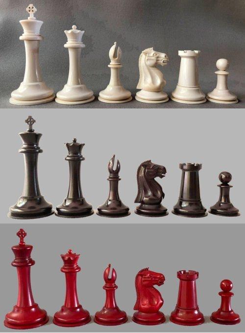 Imperial Mammoth Staunton Chessmen