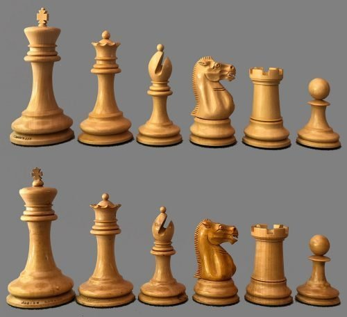 Reproduction Jaques Lasker Style Library Chessmen