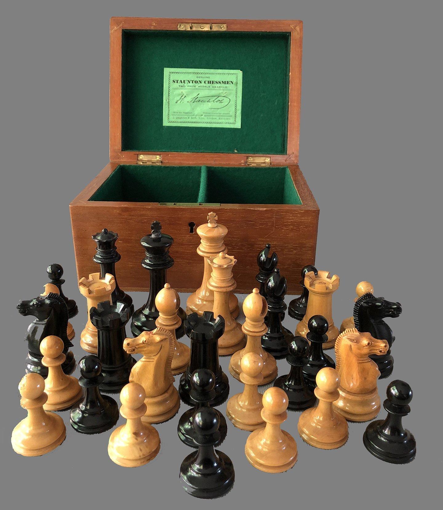 Jaques Tournament Zukertort Chessmen