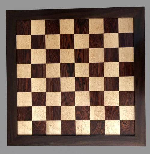 Reproduction Antique Cocobolo and Birdseye Maple Chessboard