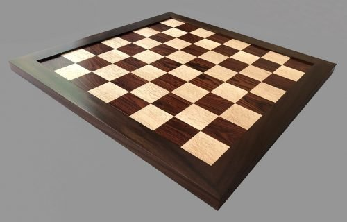Reproduction Antique Cocobolo Birdseye Maple Chessboard