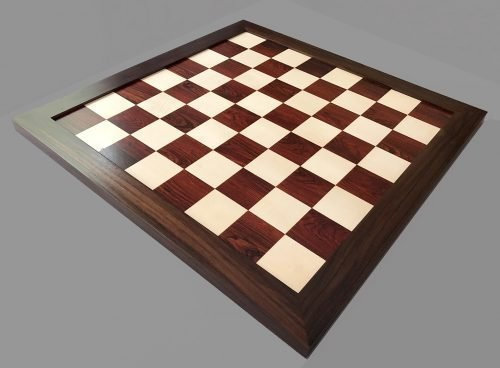 Reproduction Antique Cocobolo and Holly Chessboard