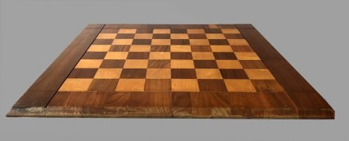 "Hard Maple and American Walnut Drueke Chessboard, 20"" Square"