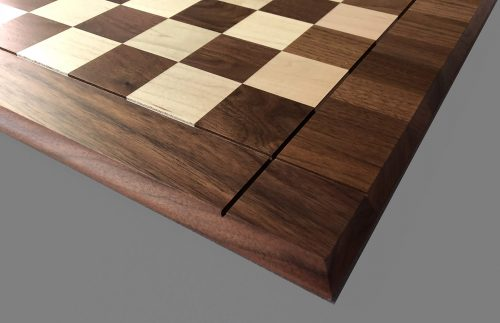 "Hard Maple and American Walnut Drueke Chessboard, 2-1/4"" Squares"