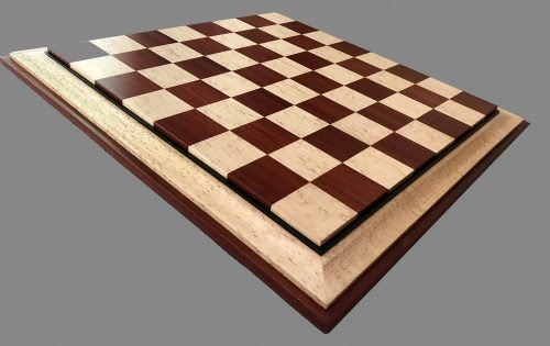 Birdseye Maple and Bloodwood Signature Chessboard