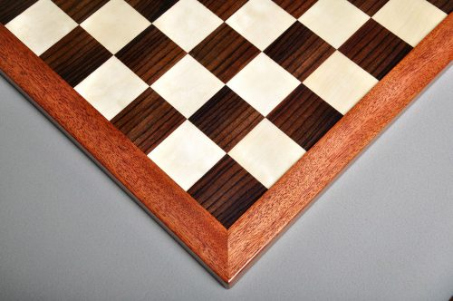 Reproduction Antique Rosewood and Holly Chessboard