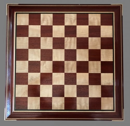 Curly Maple and Padauk Signature Chessboard