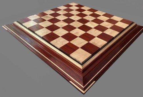Curly Maple and Padauk Signature Chessboard
