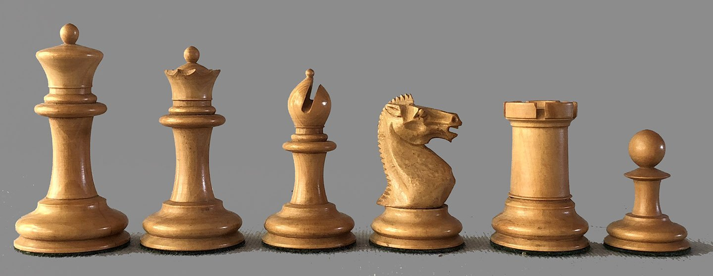 Antique Staunton Chessmen, Victorian Period