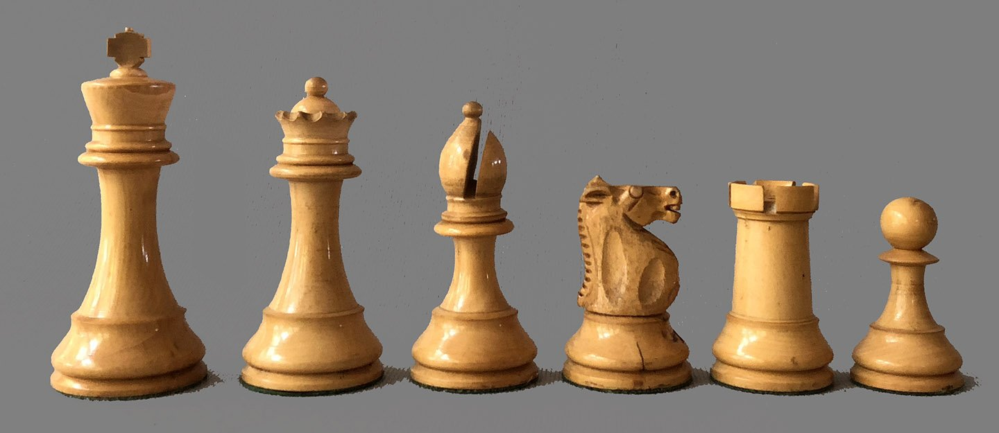 British Chess Company Club Size Popular Chessmen