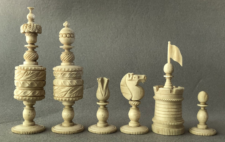 Decorative Barleycorn Chess IPieces