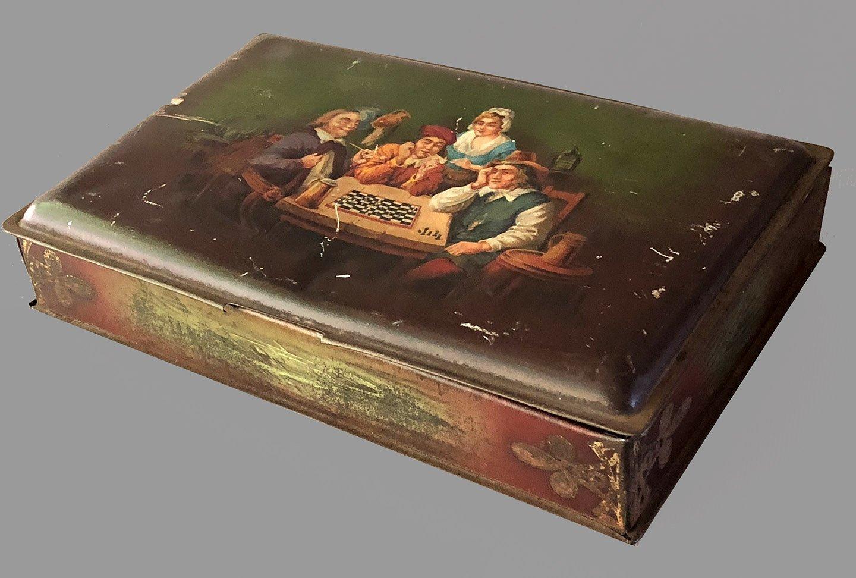 John Horn Chess Theme Chocolate Tin