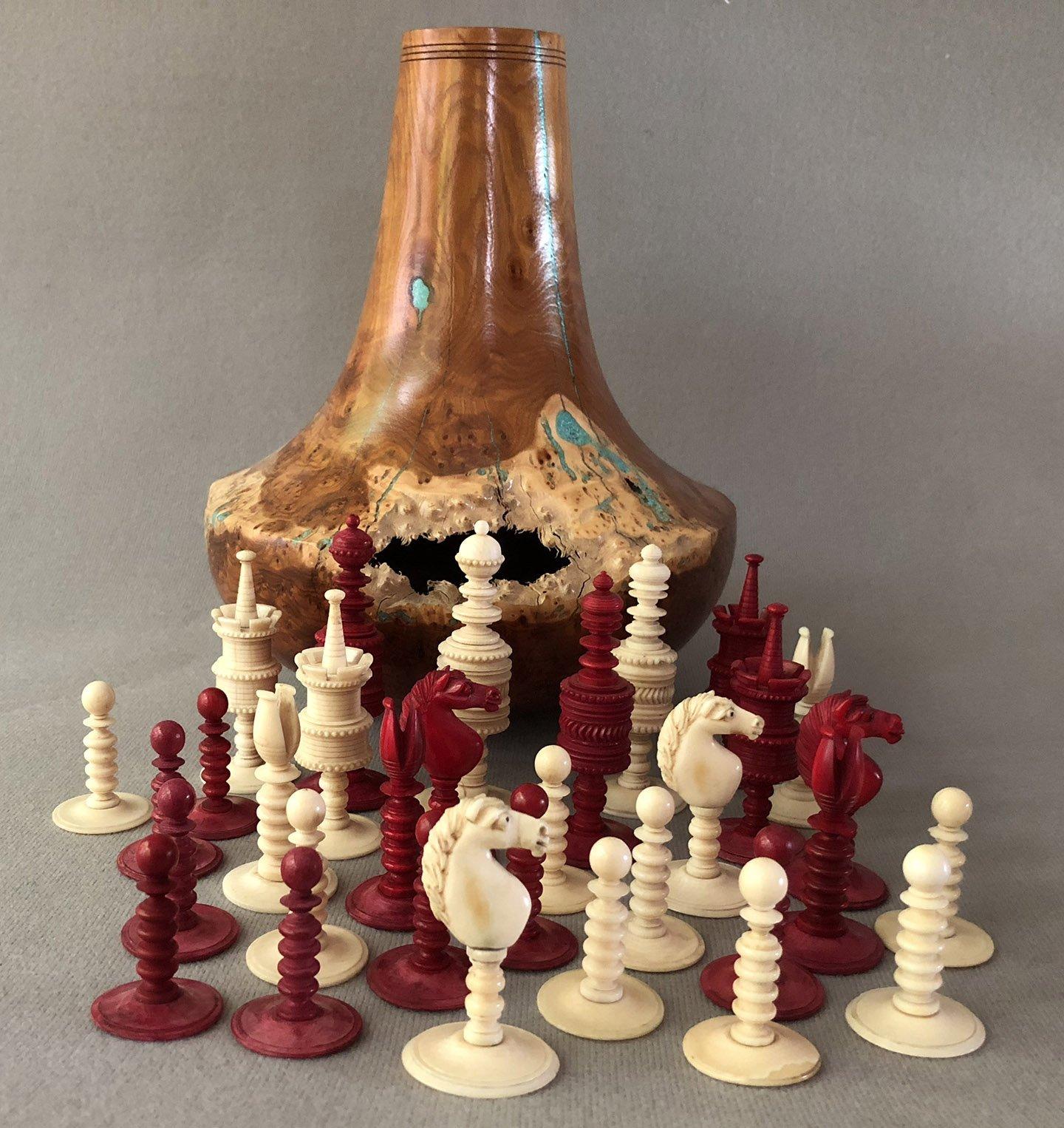 Antique Type II English Chessmen