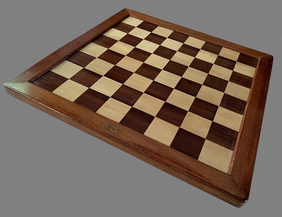 Antique Jaques Tournament Size Chessboard