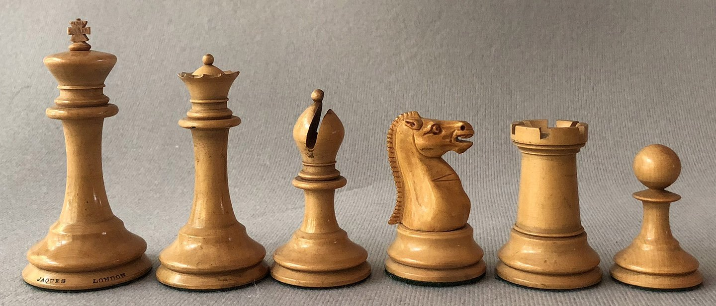 Jaques Tournament Steinitz Chessmen