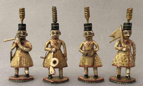 Antique Rajasthan Polychrome Chess Set