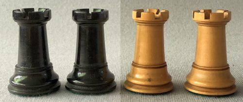 Antique Tournament Size Staunton Chessmen