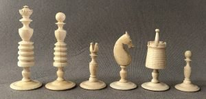 Later Antique Washington Style Chessmen