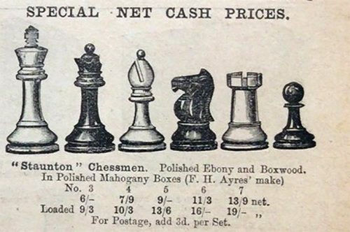 Antique Ayres Staunton Chessmen