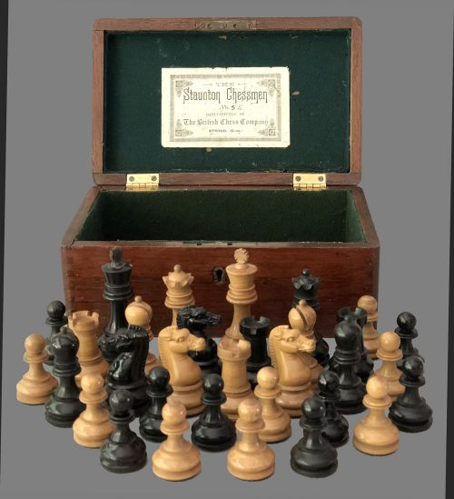 British Chess Company Library Size Staunton Chessmen