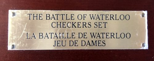 Battle of Waterloo Checkers by The Franklin Mint
