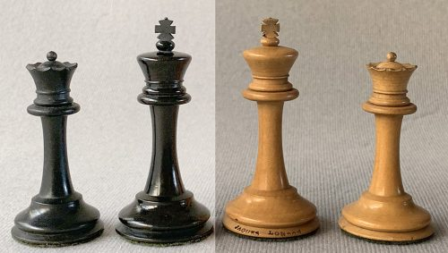 Jaques Anderssen Library Size Chessmen. Circa 1862