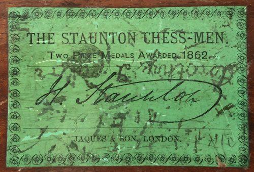 Jaques Library Size Zukertort Chess Set