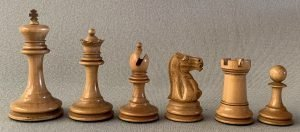 Antique Jaques Lasker Chess Set, Tournament Size