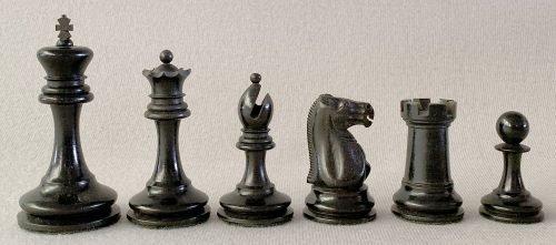Antique Jaques Lasker Chess Set, Tournament Size