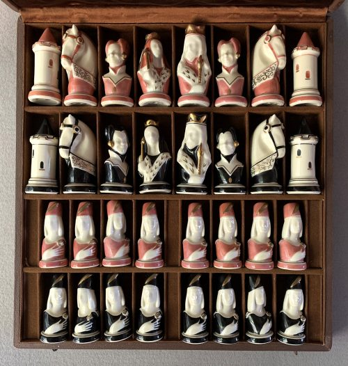 Limoges Porcelain Chess Set