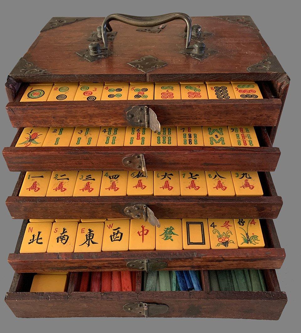 Vintage Bakelite Mahjong Set Www