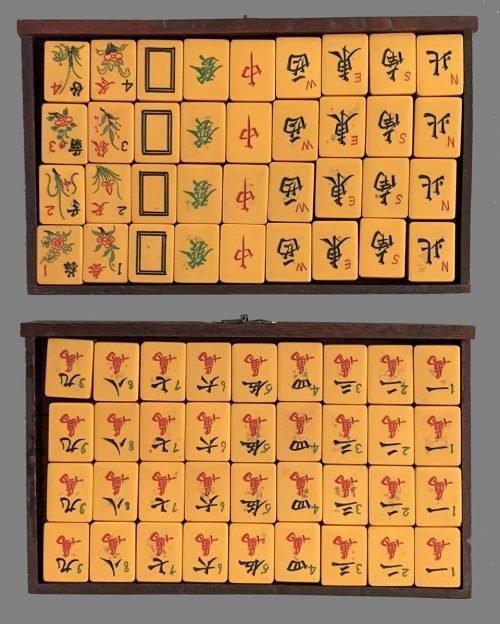 Vintage Bakelite Mahjong Set