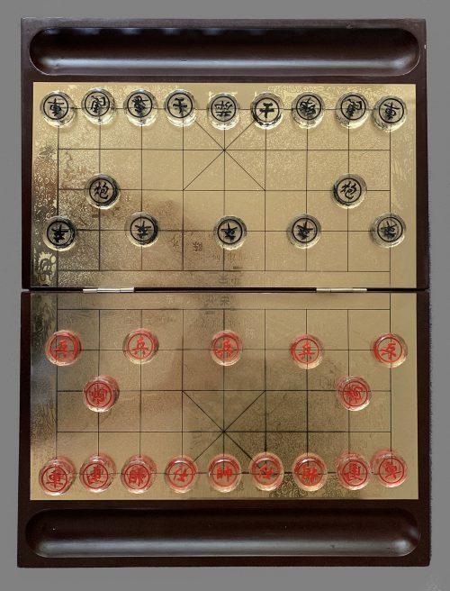Etched Glass Xiangqi Set, Xiang Qi