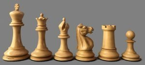 Jaques Club Size Anderssen Chessmen Reproduction