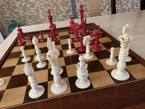 Antique Fisher Lund Chessmen