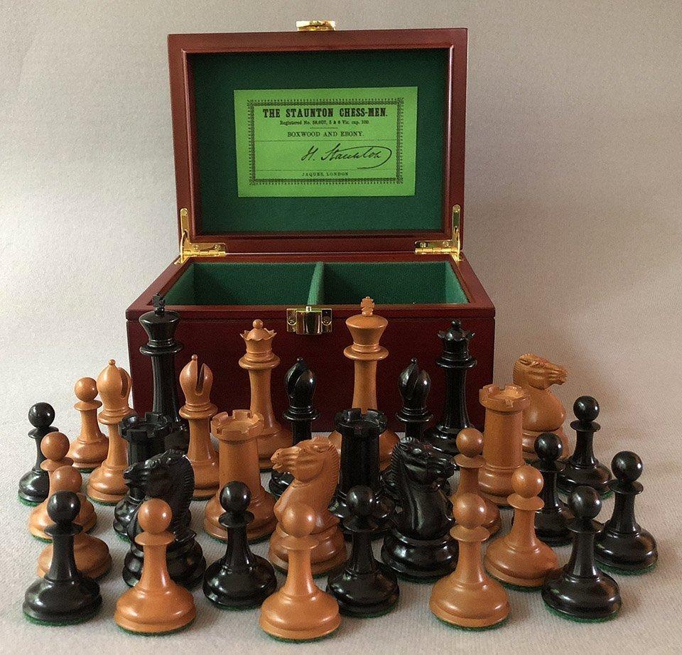 Reproduction Jaques Harrwitz Staunton Chessmen