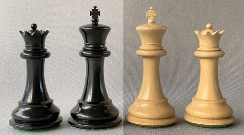 Jaques Club Size Morphy Chessmen 1850 Reproduction
