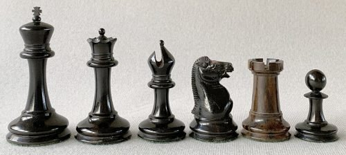 Jaques Anderssen Drop Jaw Chessmen, Tournament Size