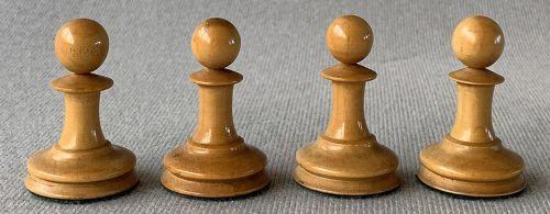 Jaques Anderssen Chessmen, Drop-Jaw Style, Tournament Size