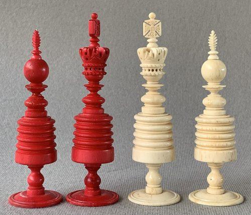 Type II English Open Crown Barleycorn Chessmen