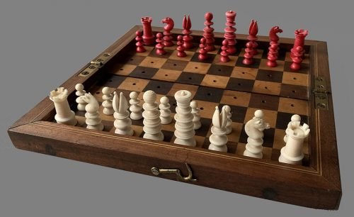 Portable Saint George Chess Set by John Jaques of London