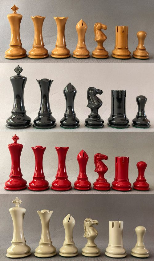 Empire Lacquered Chess Pieces