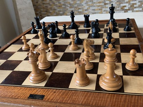 Weighted Jaques Lasker Chessmen, Tournament Size, Circa 1885
