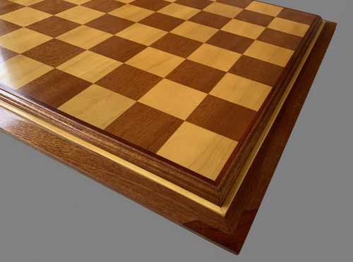 Hard Maple and Honduran Mahogany Signature Chessboard